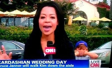 Trolling kid's instant fame in CNN show on Kim Kardashian's wedding