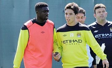 Samir Nasri resumes 'bromance' with Kolo Toure at first Man City training