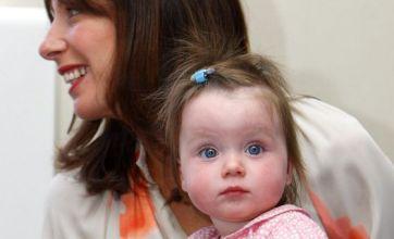 David and Samantha Cameron take daughter Florence back to Cornwall