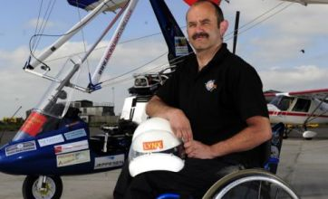 Paraplegic pilot flies from England to Australia in microlight