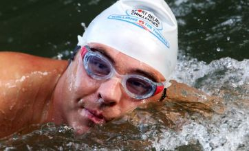 David Walliams' serious stomach bug hinders Thames charity swim