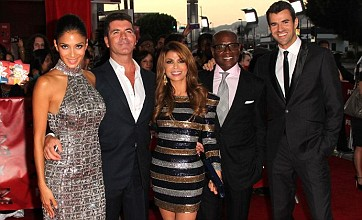 Simon Cowell lines up US X Factor ladies at premiere as Cheryl's seen on show