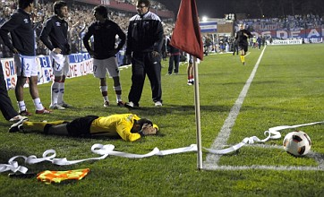 Watch: Uruguay match abandoned in after linesman hit with a roll of paper