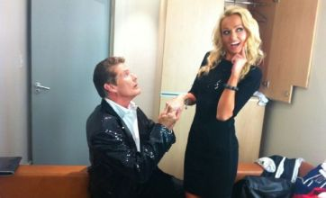 David Hasselhoff planning bungee jump proposal for Hayley Roberts