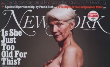 Demi Moore Vanity Fair image is given an older take with Maye Musk, 63