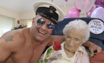 Woman gets male stripper for 100th birthday party