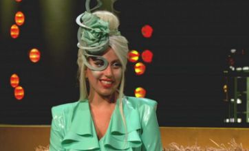 Lady Gaga leaves Jonathan Ross speechless with barmy green outfit