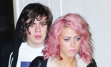 Red-eyed Frankie Cocozza comforts Amelia Lily as she denies romance