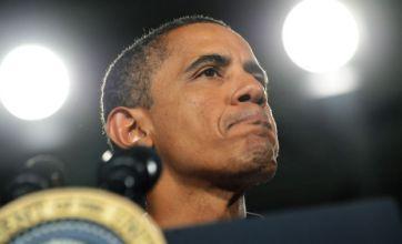 President Obama's teleprompter and podium stolen