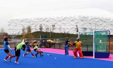 London Olympics 2012: New blue and pink hockey pitches revealed