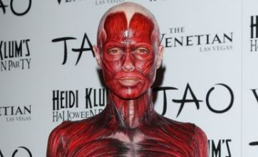 Heidi Klum in scary Halloween costume shocks party-goers