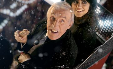 Strictly Come Dancing's Bruce Forsyth appears during rival X Factor