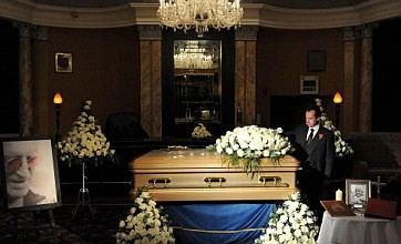 Jimmy Savile's gold coffin goes on display in Leeds hotel ahead of funeral