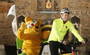 Matt Baker begins rickshaw challenge for Children In Need