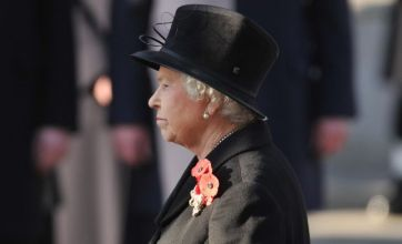 Remembrance Sunday tributes led by the Queen as Britain salutes war dead