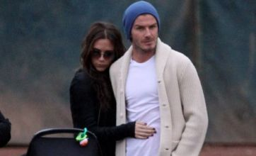 David and Victoria Beckham cuddle on family day out in LA