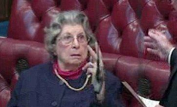 Watch: Baroness Trumpington gives V-sign to colleague in House of Lords