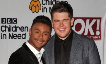 X Factor's Marcus and Craig support Gary Barlow at Children In Need Rocks