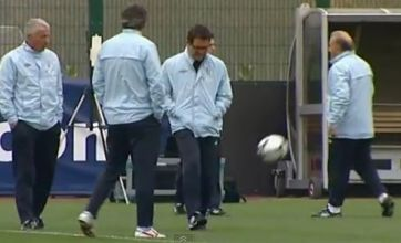 Fabio Capello's awful keepy-uppy in England training is YouTube hit