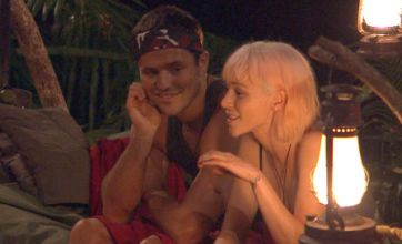 Emily Scott finds tick on Mark Wright as she massages him on I'm a Celeb