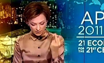 Russian newsreader fired after giving Obama the finger on air