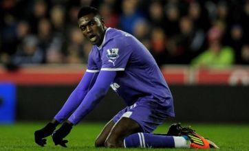 Adebayor falls foul of referee Chris Foy as Spurs' winning streak ends
