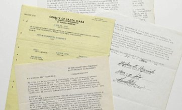 Apple founding documents sold for £1million at Sotheby's auction