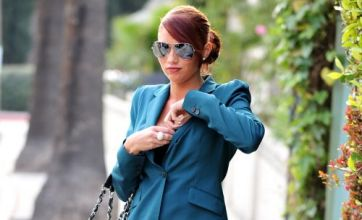 Amy Childs adjusts her bra on leaving a friend's house: Caption Comp