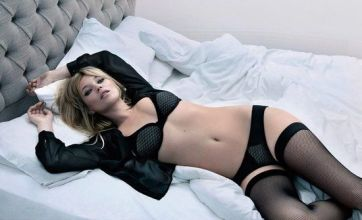 Kate Moss slips into bed in her underwear for sexy Valisere shoot