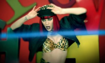 Jessie J dances around in leopard print bra in Domino music video