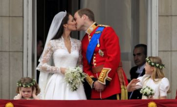 Kate and William's royal wedding balcony kiss voted TV moment of 2011
