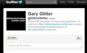 Gary Glitter Twitter fake was 'social experiment'