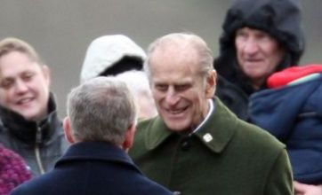Duke of Edinburgh applauded on way to church for New Year's Day service