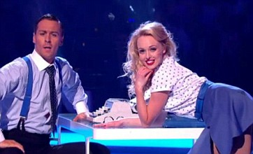Jorgie Porter and Matthew Wolfenden battle it out on Dancing On Ice