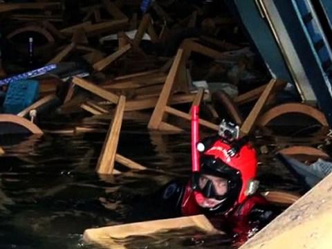 Pictures: Rescue inside Costa Concordia