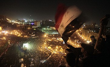 Egyptians mark first anniversary of revolution in Tahrir Square