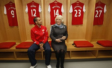 Theo Walcott impressed with Camilla's knowledge but not Arsenal's form