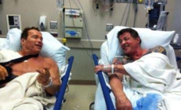 Arnold Schwarzenegger shares Sylvester Stallone hospital bed picture