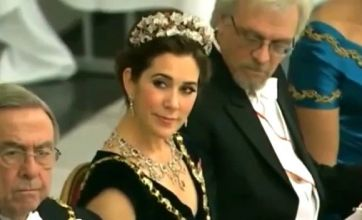 First gentleman of Finland caught staring at cleavage of Denmark's Princess Mary