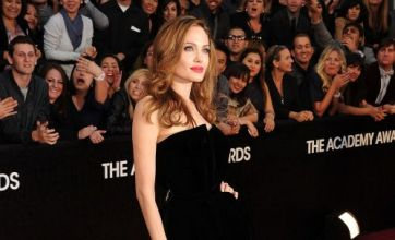 Oscars 2012: Video highlights including The Dictator stunt and Angelina Jolie's leg