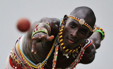 Stunning photos show Masai Warriors playing cricket in Kenya