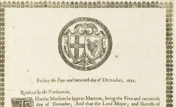 17th century parliamentary papers that banned Christmas up for sale
