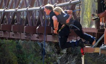 Stephen Fry faces fears and bungee jumps between takes for The Hobbit