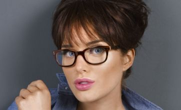 Helen Flanagan dons sexy secretary look for new Specsavers campaign