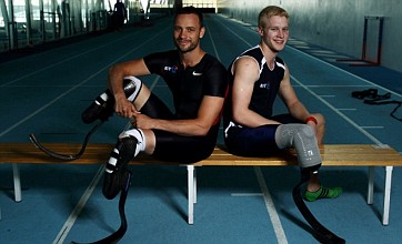 Paralympic sprinter Jonnie Peacock hunts Oscar Pistorius in blade battle