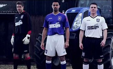 Ipswich's Tractor Boys horse around for new kit launch on Suffolk farm