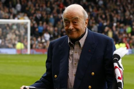 Fulham chairman Mohamed Al Fayed, FA, statement.
