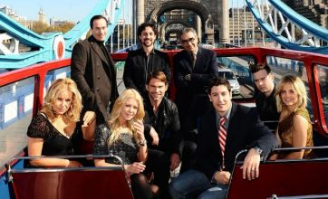 American Reunion cast hit London in a double-decker bus