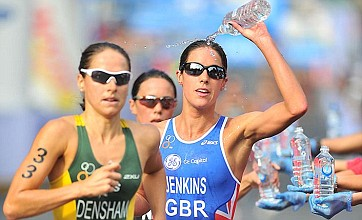 Triathlon champion Helen Jenkins edged out for victory in Australia