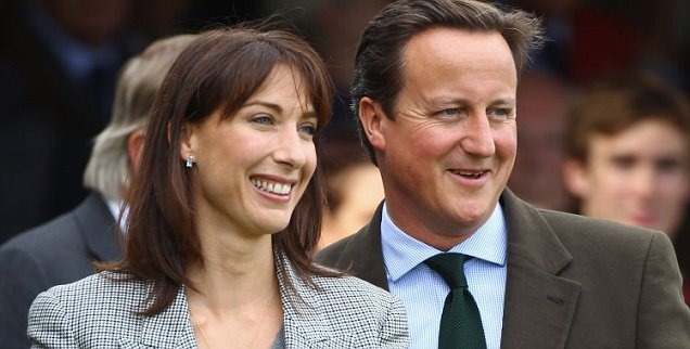 David Cameron and his wife Samantha Cameron